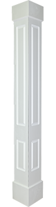 Square Non-Tapered Double Panel Column